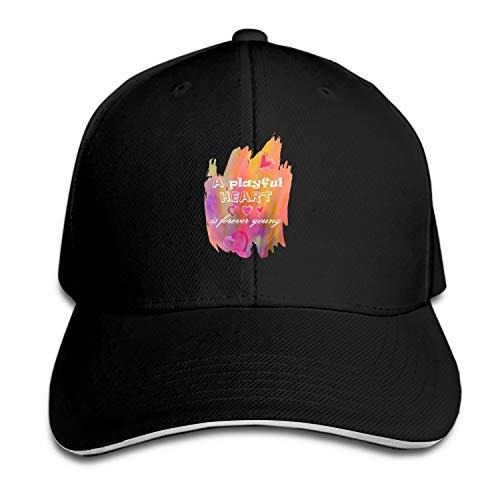 (A Playful Heart is Forever Dad Hat Peaked Trucker Hats Baseball Cap for Women Men)