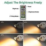 Olafus 4 Pack Wireless Spotlight, LED Accent Lights