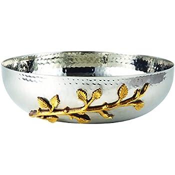 Amazon.com: Elegancia dorado Vine martillado acero ...
