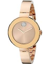 Movado Women's 3600202 Bold Analog Display Swiss Quartz Rose Gold-Tone Stainless Steel Watch