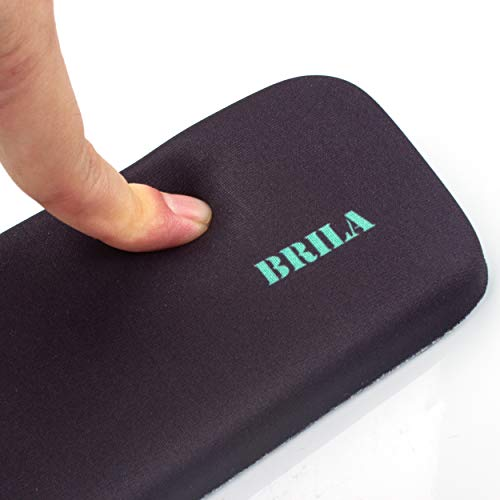 BRILA Memory Foam Keyboard Wrist Rest Support Pad Cushion – Ergonomic Slope Design - Wrist Support for Office Work and PC Gaming Easy Typing & Anti-Fatigue (Black) by Brila (Image #3)