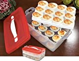 Our deviled egg carrier is eggsellent for the transport or storage of deviled and hard-boiled eggs. Carrier has a removable tray with twelve depressions that each cradle an egg's shape perfectly. Top handle used for transport. Microwave/dishw...