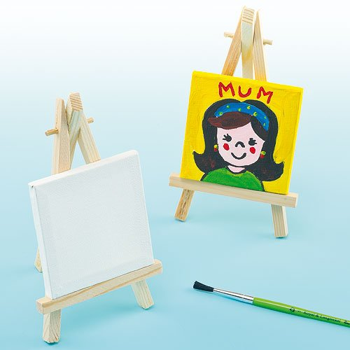 Baker Ross Mini Canvas With Easel (Pack of 2)