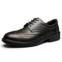 Men's Leather Brogue Oxford Dress Shoe Lace Up JACKBAGGIO 8801