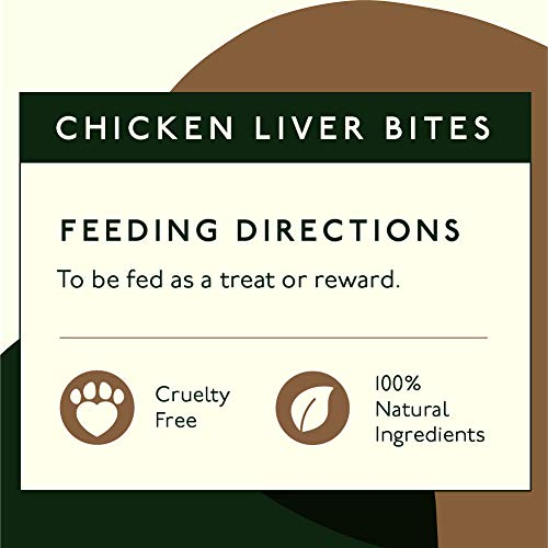 Pet Lab Co. 100% Freeze Dried Chicken Liver Bites | Healthy Dog Treats Great for Puppy Training | Natural Grain Free Dog Food