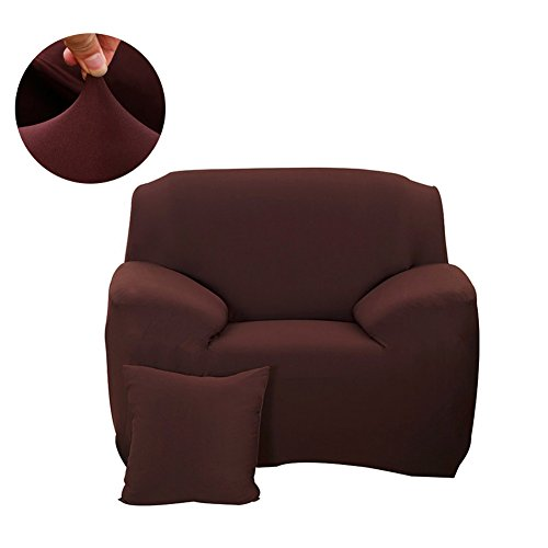 FORCHEER Universal Couch Covers Armchair Sofa Cover Polyester Elastic Sofa Slipcovers for Living Room (Chair, Coffee) - Plaid High Chair Cover
