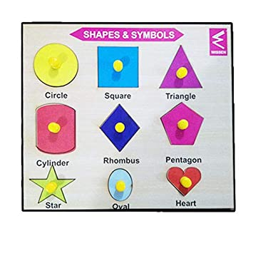 Wissen Economy Wooden Shape and Symbol Learning Puzzle