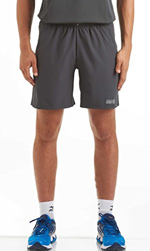 (time to run Men's Trail Spirit Quick Dry 7.5 Inch Running/Gym/Training/Athletic/Jogging Shorts with Mesh Liner Rear and Side Zipper Pockets Medium Charcoal)