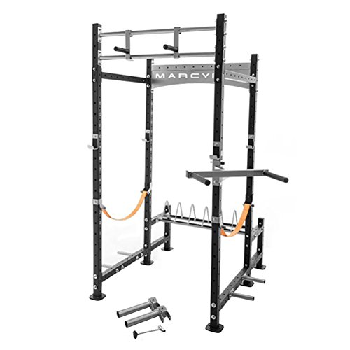 Home Gym Crossfit Power Rack Heavy Duty Adjustable Cross Fit Workout Training Area Fitness Burn Fat Build Lean Muscle Strengh Complete - House Deals by House Deals