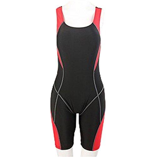 Summer Short Sleeve Swimwear One Piece Swimsuit For Women (Orange) - 3