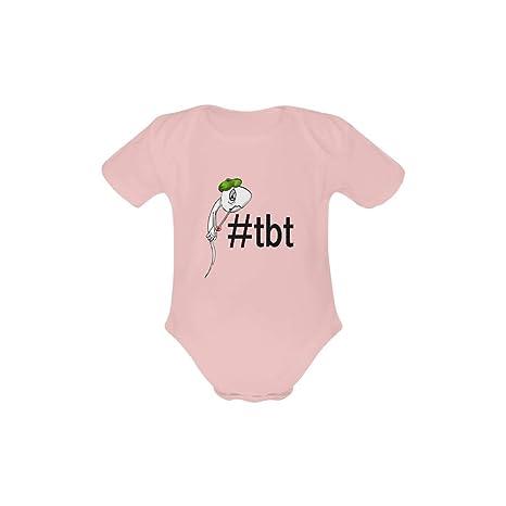 Los jueves Hashtag TBT esperma selfie Mono para bebé Pelele Body