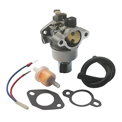 KIPA Carburetor Fuel Filter Gasket Kit John Deere GT225 LX255 LX266 LT160 Lawnmower Lawn Tractor Kohler CV460S Engine Replace John Deere OEM # AM132199 AM132033