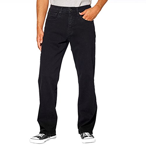 Urban Star Men's Relaxed Fit Straight Leg Jeans (32 x 30, Black) ()