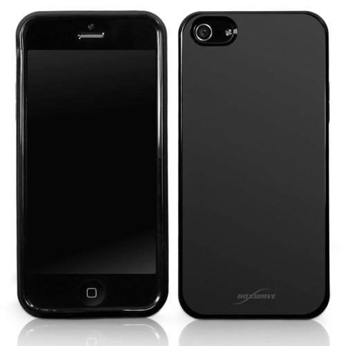 Coque Iphone se, BoxWave® [occultant Étui avec chargeur Porte-clés Bonus] Durable, Coupe Slim, Noir, Coque en TPU pour Apple iPhone 5/5S/SE,