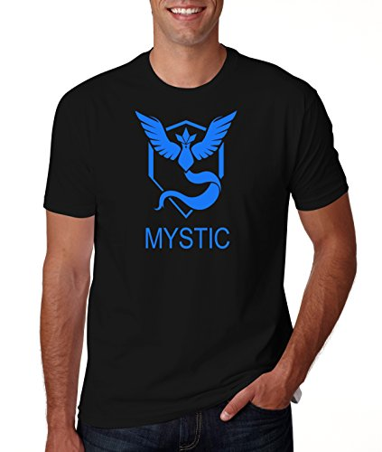 Men's Pokemon Go Team Mystic Logo Black T Shirt L