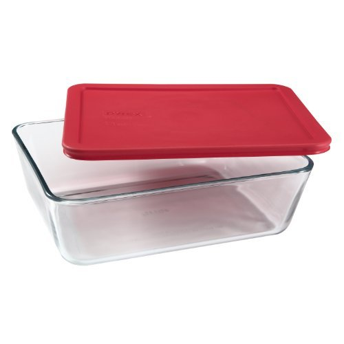 Pyrex Simply Store 11-Cup Rectangular Glass Food Storage Dish (Pack of 14)