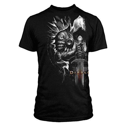 JINX Diablo III Men's Tyrael Side Premium T-Shirt (Black, Small)