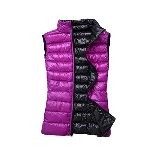 Light Ultra GladiolusA Black Purple Coat Sleeveless Puffer Vest Packable Outdoor Jacket Women's ERCxqfF