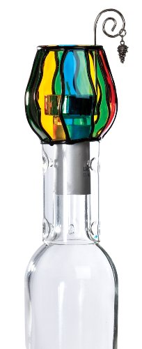 Franmara Wine Chimney Tea Candle Set, Stained Glass