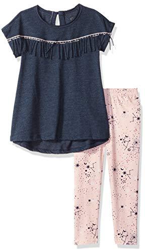 Simpsons Blue Pants - Jessica Simpson Little Girls' Mineral Washed Top Legging Set, Eclipse, 5