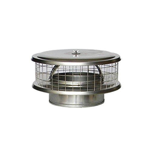 """7"""" Stainless Steel WeatherShield Chimney Cap WSA for Solid Pack Chimney Pipe"""