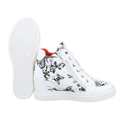 altas Zapatillas negro Mujer y Design blanco Ital qO0P5