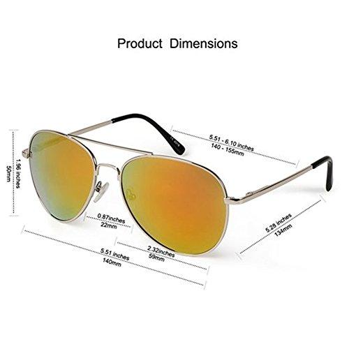 Premium Aviator sunglasses with USA flag lens gold frame maximum UV Protection