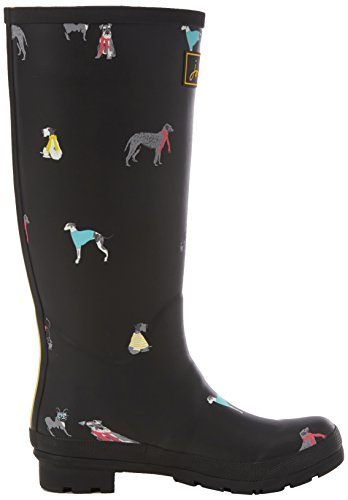 Black Dogs Joule Cosy Black Welly Mujer Agua de Print Botas Tom TvF0xnx