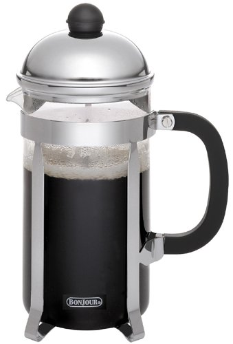 BonJour Monet 8-Cup Unbreakable French Press (3 Bonjour Cup French Press)