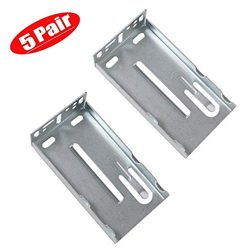 5 Pairs Hardware Rear Mounting Brackets for Drawer Slides,Cabinet Drawer Bracket for Face Frame Cabinets