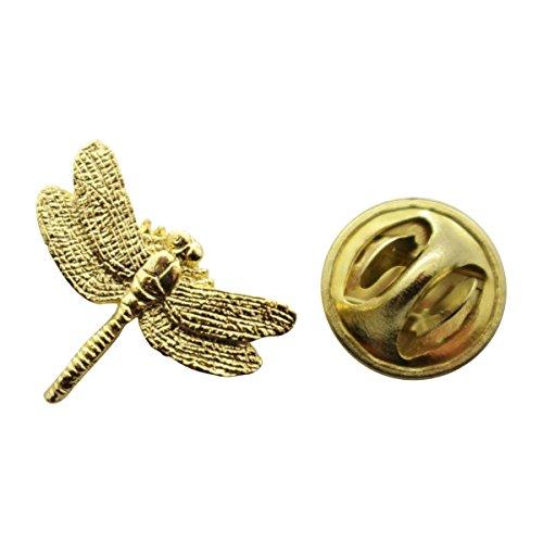 Sarah's Treats & Treasures Dragonfly Mini Pin ~ 24K Gold ~ Miniature Lapel Pin