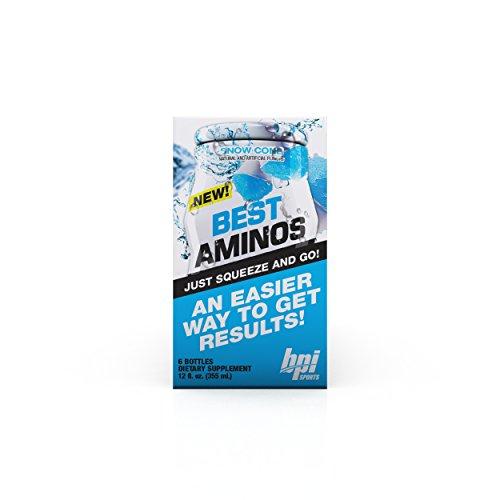 BPI  Sports Best Aminos Liquid Water Enhancer, Snow Cone, 24 Servings per Bottle, 6 Bottles