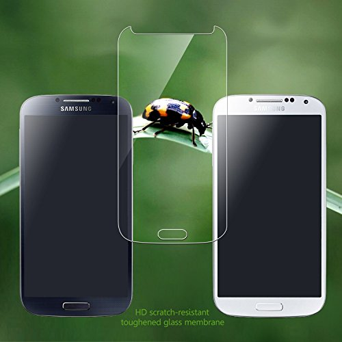 Galaxy S4 Screen Protector [Tempered Glass], EasylifeTM Ultrathin, High Definition, No Bubbles, 9H, 2.5d Arc Angle Premium 0.33mm (Hd) Tempered Glass Screen Protector for Samsung Galaxy S4 Touchscreen Accuracy [Life Time Warranty]. (Samsung S4)