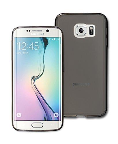 Elvis Presley Black Leather Costume (S6 Edge Case, Samsung Galaxy S6Edge Aqua TPU Case, Two Tone Matt Mobile Soft Jelly Case, AT&T, Verizon, Sprint, T-Mobile (Light Black))