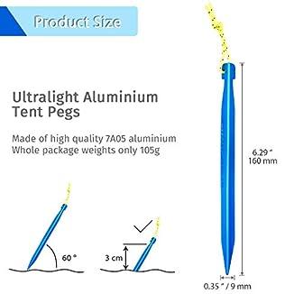 GEERTOP 10 Estacas de aluminio 3