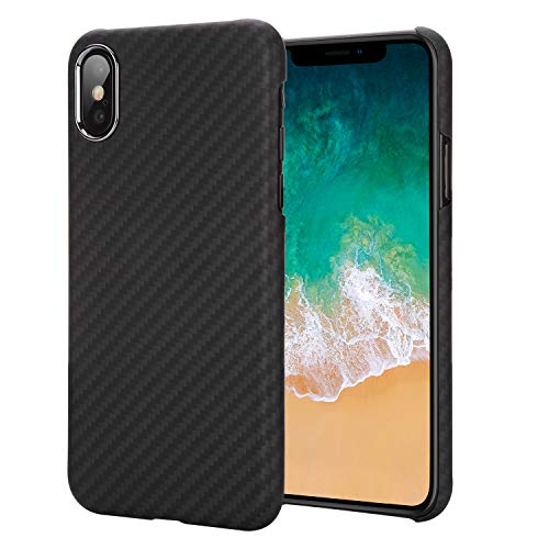 iPhone X Case 5.8 Inch - Getron 100% Aramid Fiber Slim Minimalist Strong Solid Durable Snap-on Exact-Fit Hard Back Cover for Apple iPhone X 5.8