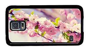 Hipster good Samsung Galaxy S5 Cases Sakura Blossom PC Black for Samsung S5