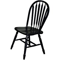 Sunset Trading Arrowback Dining Chair in Antique Black, Set of 2, 38, Antique Black