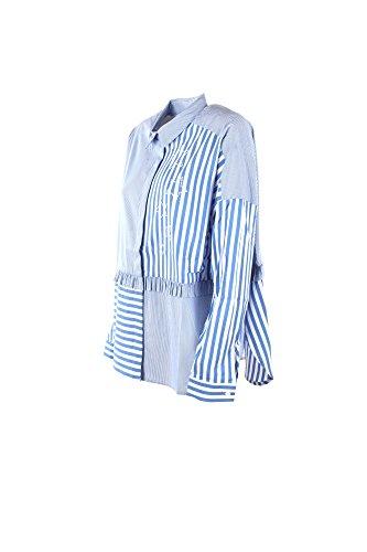 MY TWIN Camicia Donna S Celeste/Bianco Js82dr Primavera Estate 2018