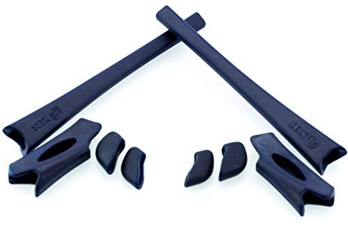New SEEK OPTICS Rubber Kit Earsocks Nose Pads for Oakley FLAK JACKET XLJ - Navy - Sale Jacket Flak