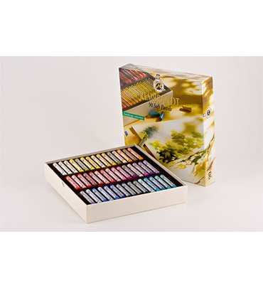 Rembrandt Royal Talens Soft Pastels General Wood Box Set, 90 Stick Set