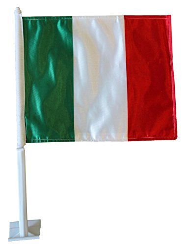 World Cup Soccer Italy Country Car Flag