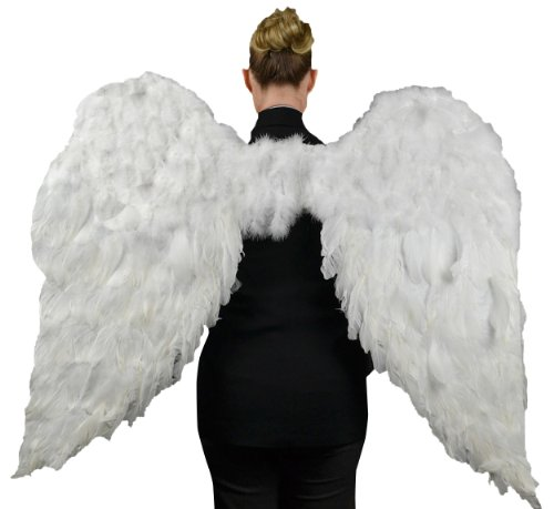Touch of Nature 11009 Adult Angel Wing in White with Elastic Straps, 52 by 36-Inch