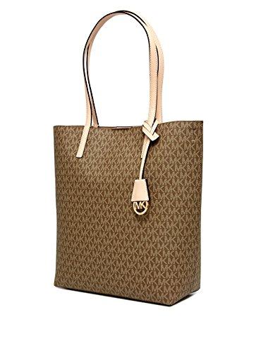 MICHAEL Michael Kors Hayley Large Convertible Tote (Mocha/Bisque) (Convertible Tote Handbag)