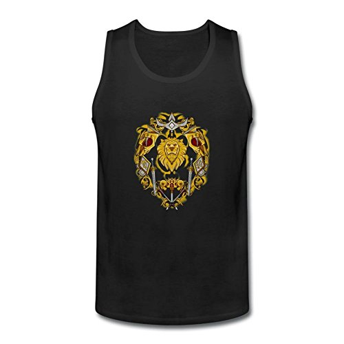 ZhiBo Vintage Swords Shield Lion Symbol For the Alliance Customs Tank top for Men