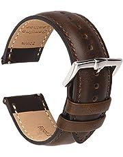 BRISMASSI ESETTI Schnellverschluß Uhrenarmbänder - Kalb Leder Armbänder für Herren & Damen im eleganten Stil Wählen Sie Farbe und Breite 16 18 19 20 21 22mm
