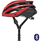 Coros OMNI Smart Cycling Helmet w/Bone Conduction Audio, LED Tail Lights, SOS Alert Removable Visor | Adjustable sizing | Connects via Bluetooth music, calls navigation