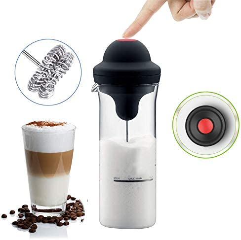 Espumador de leche Espumador eléctrico de café Funcionamiento con ...