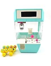 الة التقاط الحلوى مزودة برافعة ومخلب تعمل عند وضع عملات معدنية بها لالتقاط الحلوى + ساعة منبه ولعبة لوحية