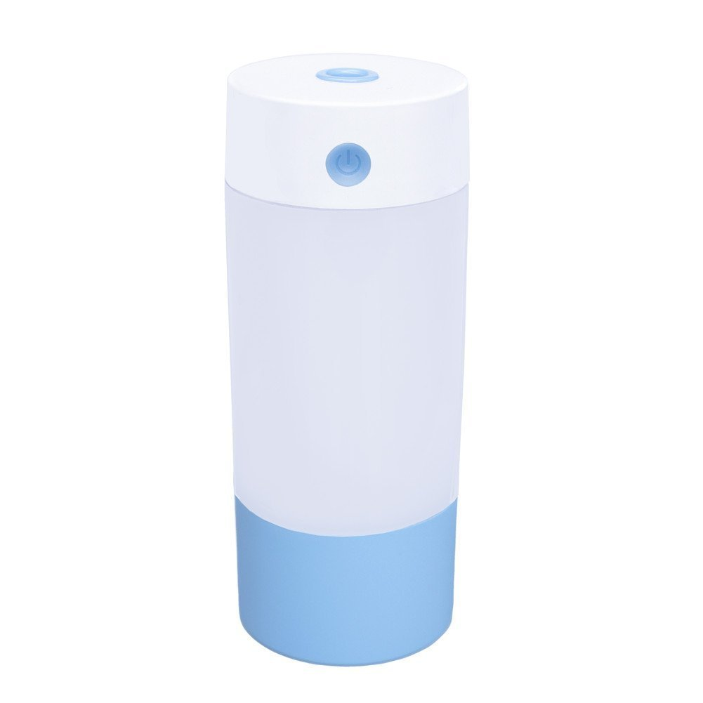 Wonton Cool Mist Ultrasonic Humidifier, 250ML USB Portable Mist Air Mini Humidifier-Quiet Operation, Automatic Shut Down, Night Light Function For Office Home Bedroom Car (Blue-250ML)